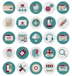 SEO and Marketing Icons Set1 vector image vector image