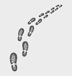 Shoes prints vector