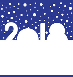 snowdrifts in the shapes of digits 2018 vector image vector image
