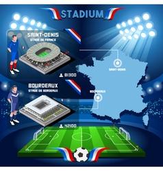 Stade france bordeaux stadium vector