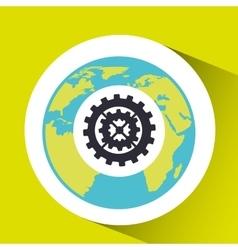 Teamwork social media world map vector