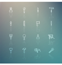 Tools icons on retina background vector