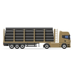Truck semi trailer concept 08 vector