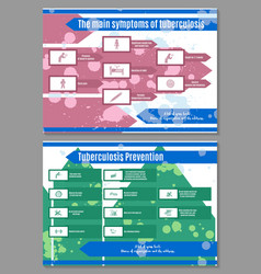 Two brochures about symptoms and ways of vector