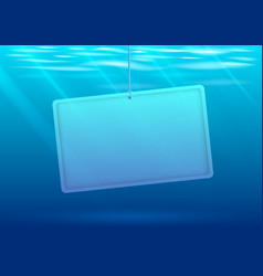 underwater background with banner vector image