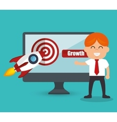 Growth see the future concept vector
