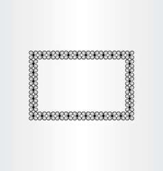 Decorative frame background black border vector