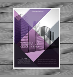 Purple brochure design template for your brand vector