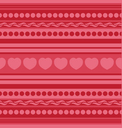 Seamless pattern with heart vector