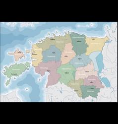 Map of estonia vector