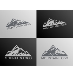 Mountain logo symbol icon isolated vector