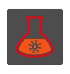 Microorganism test rounded square button vector