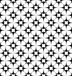 Monochrome seamless star pattern design vector