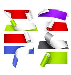 collection of colorful papers vector image