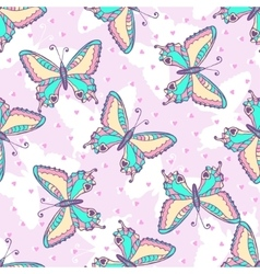 Fashion Butterflies pattern vector image