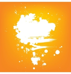 Abstract background white contrast paint banner vector
