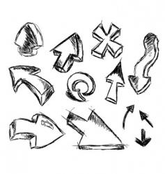 arrow sketches vector image