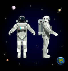 astronaut in space vector image