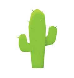cartoon style grunge western green cactus plant vector image