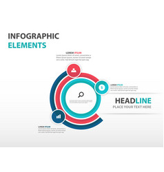 Colorful circle business infographics elements vector