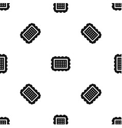 cookie pattern seamless black vector image vector image