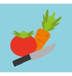 Cooking healthy food icon vector