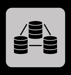 data center icons vector image