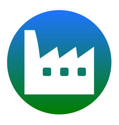 Factory sign white icon in vector