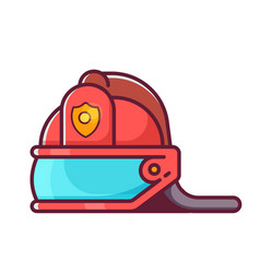 Fireman helmet icon vector