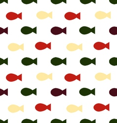 Fish seamless patternskeleton of fish vector