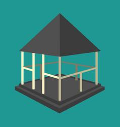 garden pavilions and garden furniture icon vector image vector image