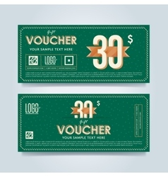 Gift voucher template layout vector image