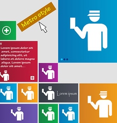 Inspector icon sign buttons modern interface vector