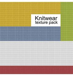Knitwear texture pack vector