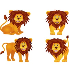 lion collection vector image vector image