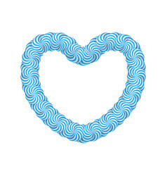 Lollipop blue heart frame vector