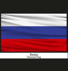 National flag of russia vector