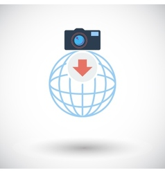 Photo download single icon vector image vector image