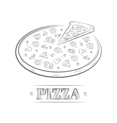 Pizza vintage vector image vector image