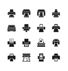 Print icons and printing documents signs vector