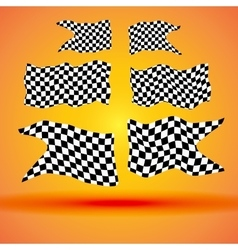 Racing background with set collection of six vector