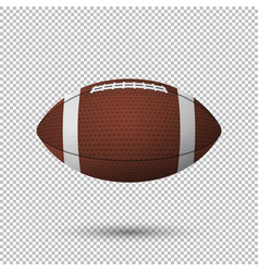 Realistic flying football closeup isolated vector