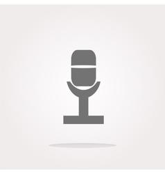 Retro microphone icon glossy button vector image