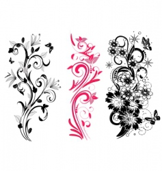 set of different patterns vector image vector image