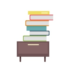 Stack of Documents in Flat Design vector image