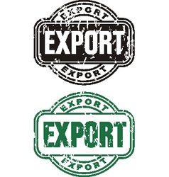 Stamp Export vector image vector image