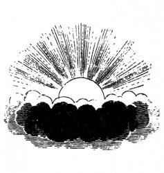sun behind a cloud vector image vector image