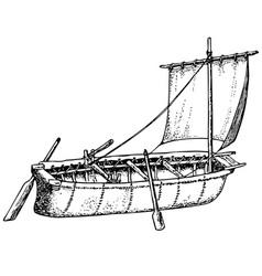 umiak boat vector image vector image