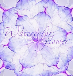 Watercolor floral round patterns vector image vector image