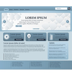 Web design elements in blue and gray tones vector image